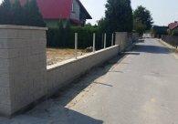 Ogrodzenie z Bloczków Joniec Wola Mielecka k/ Mielca