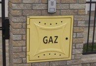 Estetyczne zabudowanie skrzynki gazowej cegłą Uni-Split.